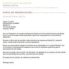 Carta de presentación para imprimir
