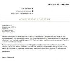 Formato de carta de recomendación simple
